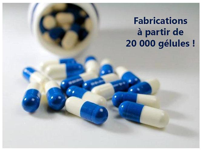 Orthofoods produit à partir de 20 000 gellules
